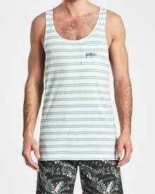 Nomadic Paradise North Shore Tank White/Grey/Teal Stripe