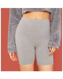 ROMWE Marled Biker Shorts