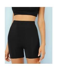 ROMWE Black Biker Shorts