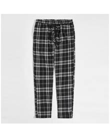 ROMWE Guys Plaid Drawstring Pants