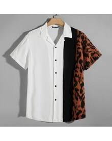 ROMWE Guys Allover Print Shirt