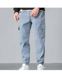 ROMWE Guys Pocket Side Cargo Pants