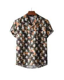 ROMWE Guys Star All Over Print Shirt