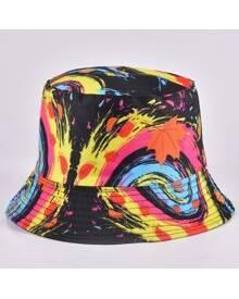 ROMWE Guys Maple Graphic Bucket Hat