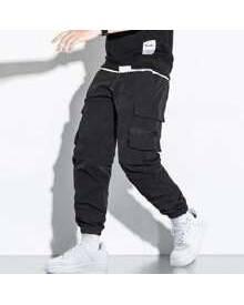 ROMWE Guys Slant Pocket Cargo Pants