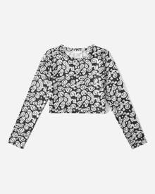 ROMWE All Over Print Crop Tee