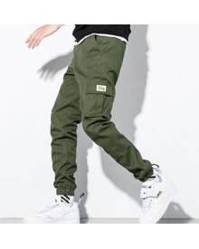 ROMWE Guys Flap Pocket Cargo Pants