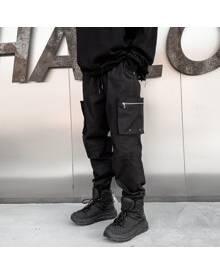 ROMWE Guys Slant Pocket Drawstring Cargo Pants