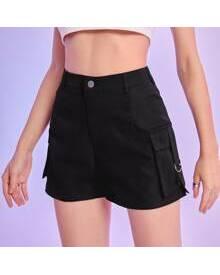 ROMWE Solid Cargo Shorts