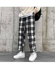 ROMWE Guys Plaid Pants