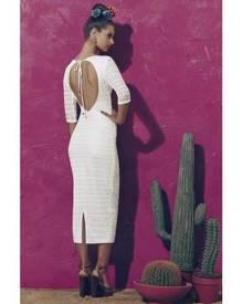 Matea Designs ITS A GOOD LIFE White Long Sleeve Dress
