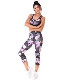 Xahara Active Designer Carmen Camo Sports Bra