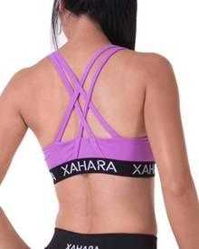 Xahara Active Designer Scarlet Violet Crop