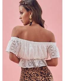 Matea Designs HARPER White Lace Top- Pre-order delivery mid dec