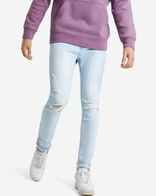 Hallensteins Absent Ripped Skinny Jeans in Baby Blue