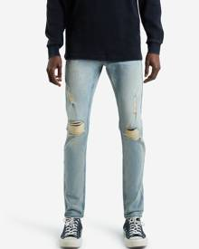 Hallensteins Absent Ripped Skinny Jeans in Stone Wash