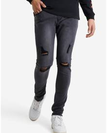 Hallensteins Absent Ripped Skinny Jeans in Washed Black