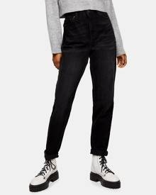 TOPSHOP - Mom Jeans - Slim (Worn Black) Mom Jeans