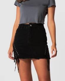 ONEBYONE - Kara Skirt - Denim skirts (Black) Kara Skirt