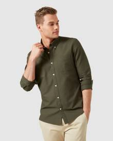 French Connection - Oxford Regular Fit Shirt - Casual shirts (MILITARY GREEN) Oxford Regular Fit Shirt