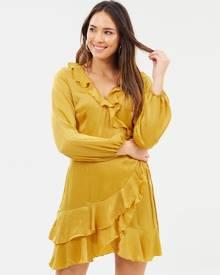 Fresh Soul - Beauty Wrap Dress - Dresses (Marigold) Beauty Wrap Dress