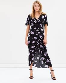 Sass - Floral Bouquet Ruched Dress - Printed Dresses (Floral Bouquet Print) Floral Bouquet Ruched Dress