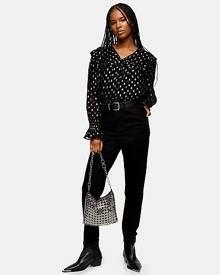 Topshop Black Mom Tapered Jeans - Black