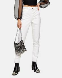Topshop Considered White Mom Tapered Jeans - Off White