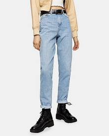 Topshop Bleach Mom Tapered Jeans - Bleach Stone
