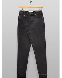 Topshop Washed Black Premium Mom Tapered Jeans - Washed Black