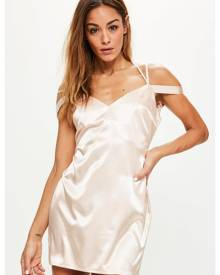 Missguided Strappy Satin Shift Dress