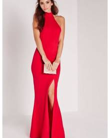 Missguided Maxi Dress Red