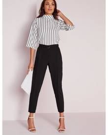 Missguided High Waist Cigarette Pants Black