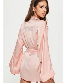 Missguided Bridesmaid Dressing Gown