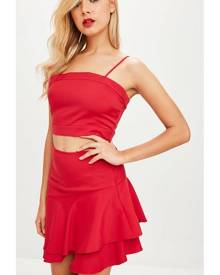 Missguided Co Ord Frill Skirt & Top Set