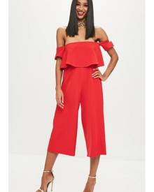 Missguided Bandeau Double Layer Playsuit