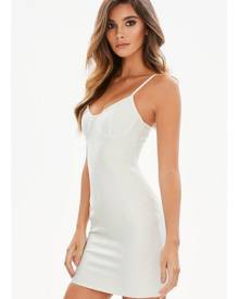 Missguided White Bandage Bustcup Bodycon Dress