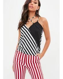 Missguided Stripe Cut Out Cami Top