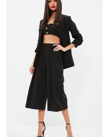 Missguided Black Pleated Front Culottes