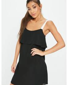 Missguided Georgette Cami Overlay Shift Dress