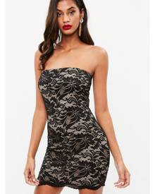 Missguided Lace Bandeau Bodycon Mini Dress