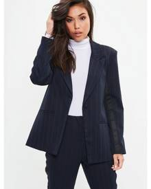 Missguided PRINCE OF WALES BUTTON BLAZER
