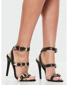 Missguided Western Studded Strappy Barely There Sandals