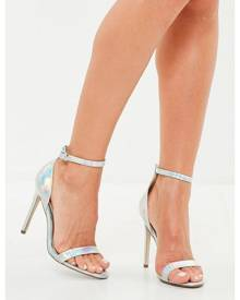 Missguided Iridescent Barely There Heels