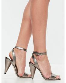 Missguided Cone Heel Strap Heeled Sandals