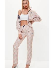 274ea9e6d7 x Missguided Pink Checked Track Pant Joggers
