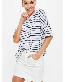 Missguided Oversized Striped T Shirt