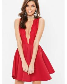 Missguided Lace Skater Dress