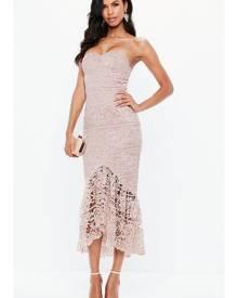 Missguided Lace Fishtail Maxi Dress
