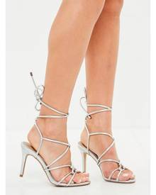 Missguided Multi Strap Gladiator Mid Heel Sandals